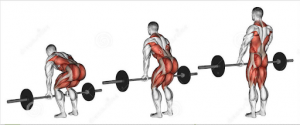 Dead life with barbell or trap bar to improve golf swing