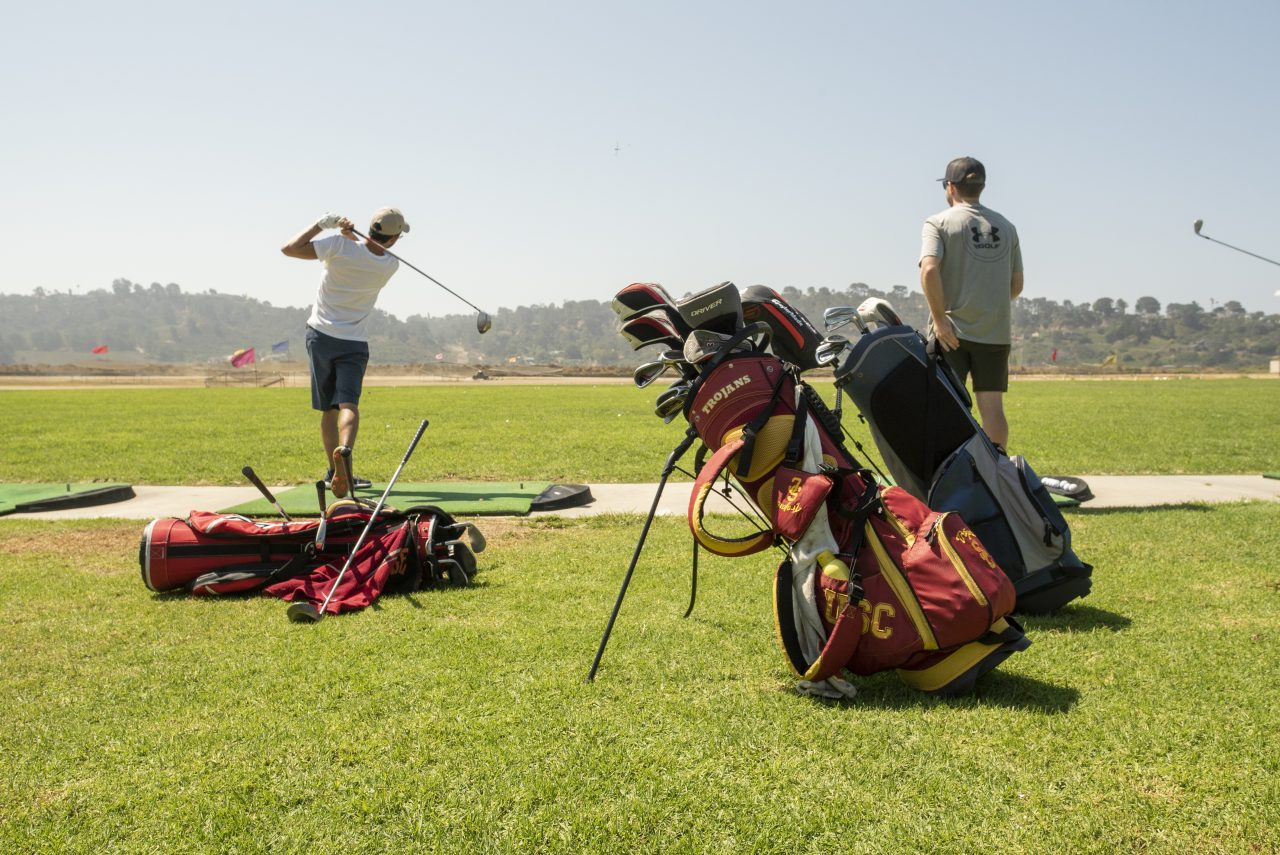 group of guys renting golf clubs in san diego